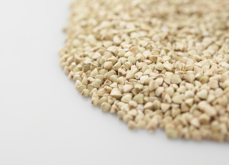 raw green buckwheat background close-up Banque d'images