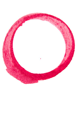 brush stroke in the form of a circle. Drawing created in ink sketch handmade technique. Circle doodle Imagens