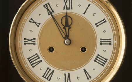 Roman numerals shows for five minutes twelve hours. Holiday New year Imagens - 132001064