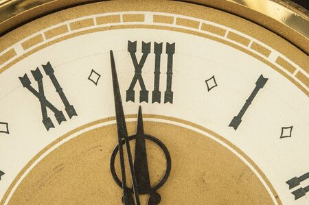 Roman numerals shows for five minutes twelve hours. Holiday New year Imagens - 132001099