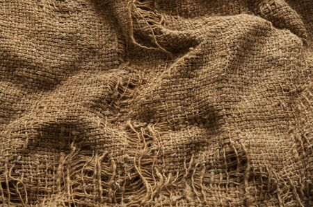 old burlap fabric texture as background