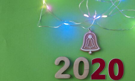 Happy new year 2020 Christmas and New Year background