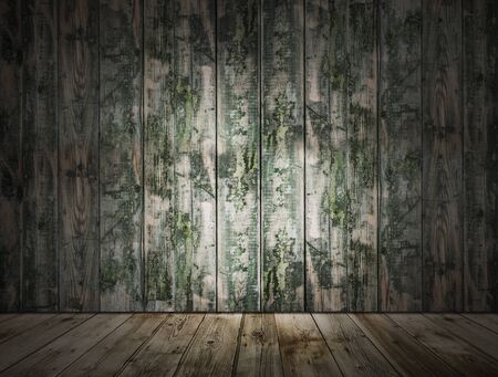 dirty wooden room, vintage background