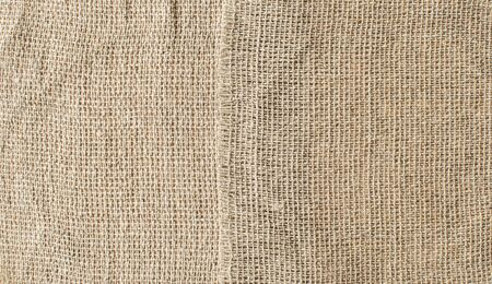 Brown sackcloth texture or background and empty space. 스톡 콘텐츠