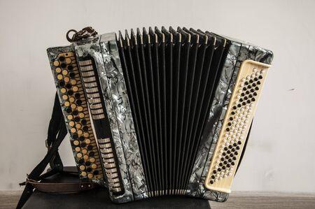 classical retro bayan (accordion), musical instrument  Stockfoto