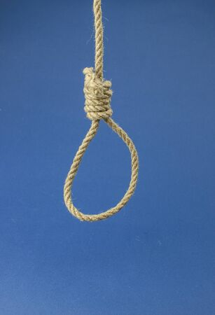 Hinge for the gallows on a dark blue background