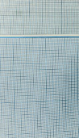 Grid paper texture. Blue grid or graph paper background. 免版税图像