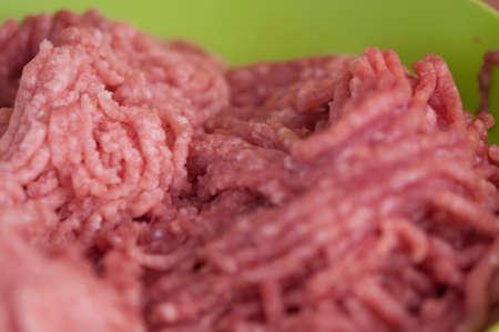 fresh raw minced beef, pork with copy space. Archivio Fotografico