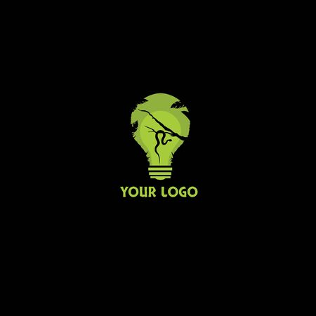 forest idea or forest energy logo design concept