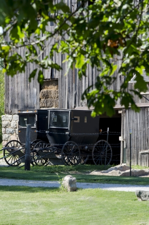 old Amish buggies Stock Photo