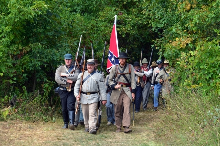 Confederate  troops on the march Editorial