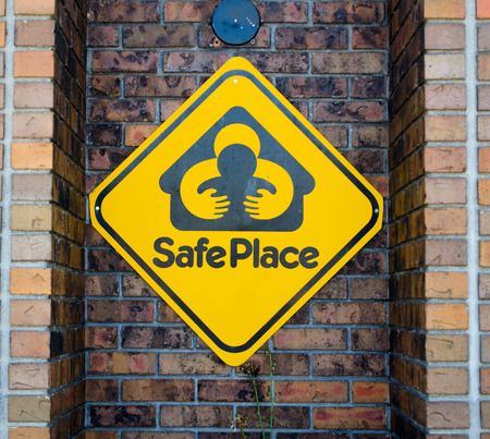This safe place sign sits outside the Denver fire station  The Colorado Safe Haven Law