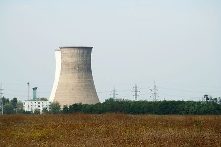 powerstation: power plant furnance Stock Photo