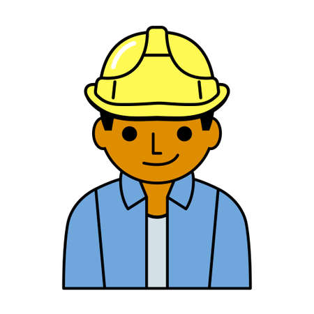 laborer: Laborer icon cartoon style for using.