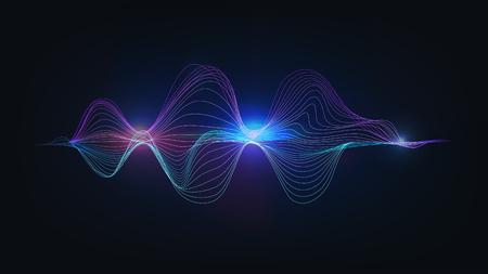 speaking sound wave illustration vector