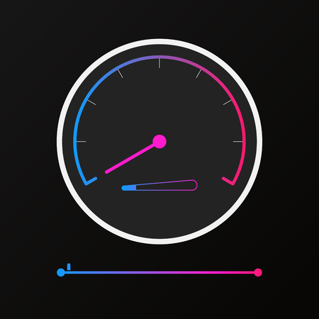 Reduces speed monitor display icon Illusztráció