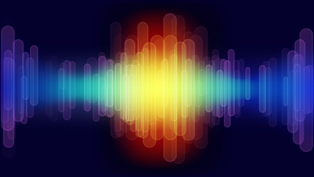 Digital abstract sound wave. Vector illustration.