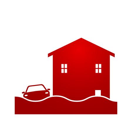 Flash flood icon logo.