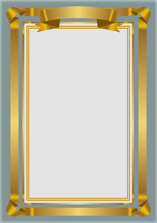 golden certificate frame