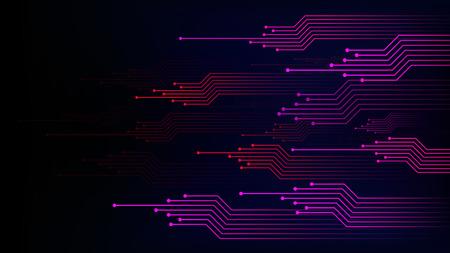 Abstrakter Technologiehintergrund der Datenverbindungsgeschwindigkeitslinie