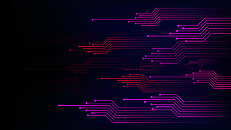Data connection speed line abstract technology background Illustration
