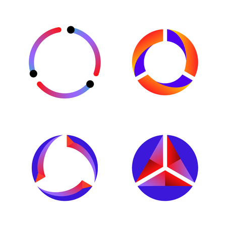 Satz von Zyklusdaten-Tech-Symbolvektorhintergrund