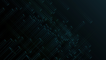 square tube speed line abstract technology vector background