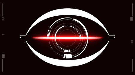 Eyes scanner authenticate secure icon background