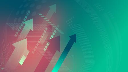 Flechas firman tecnología crecen concepto fondo verde
