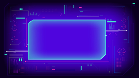 Hud display interface elements background
