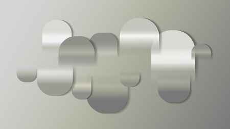 Chrome dynamic wave abstract background