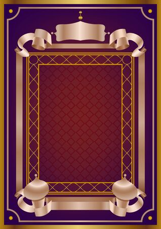 Arabian greeting card frame vector background for decoration
