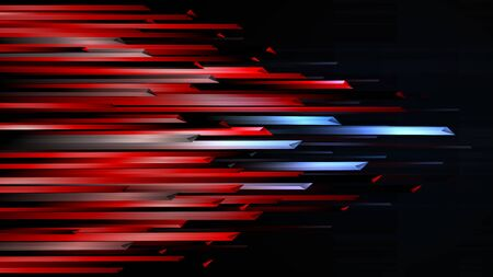 Connection futuristic red blue speed line abstract technology background
