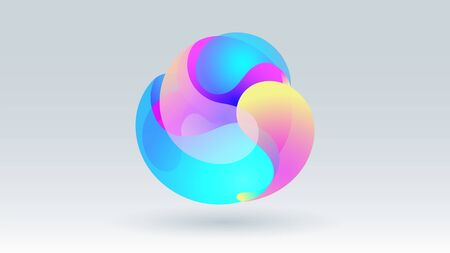 Colorful motion fluid circle group abstract vector background Ilustração