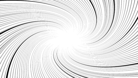 Twisted black and white speed lines vector background