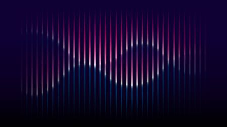 Sound wave rhythm stripe texture vector background  イラスト・ベクター素材