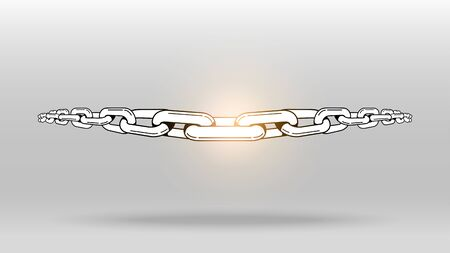 Chain linking with flare vector object background