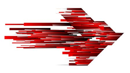Connection red speed line abstract technology background arrow shape