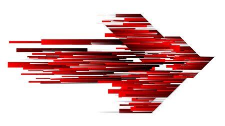 Forme de flèche de fond de technologie abstraite de ligne de vitesse rouge de connexion