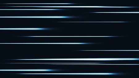 Tech light in the dark speed lines vector background