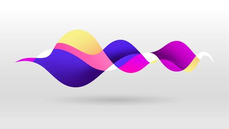 Motion sound wave purple gradient colour abstract vector background