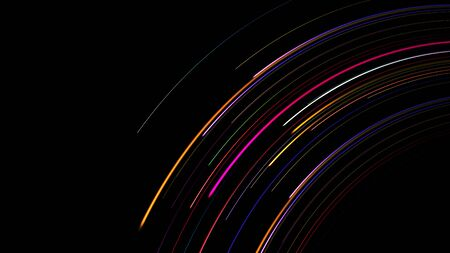 Data connection colorful curve speed line abstract technology background