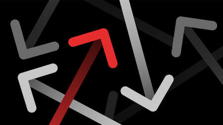 Undirected abstract arrow line movement icon vector  background