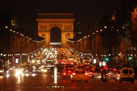 agglomeration: champs elysees Stock Photo