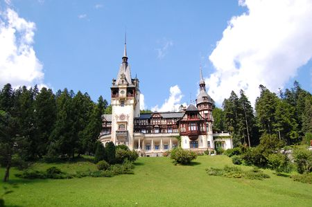 aristocracy: peles castle museum and parc, sinaia, romania Stock Photo