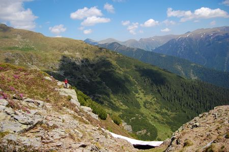 fagaras: deep valey, fagaras mountains, the carpathians