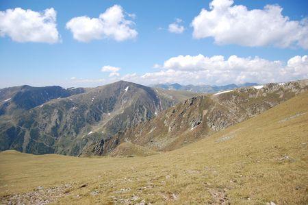 fagaras: peacks Ofer cielo sereno, le montagne Fagaras