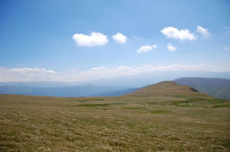 fagaras: plateau in fagaras maountains Stock Photo