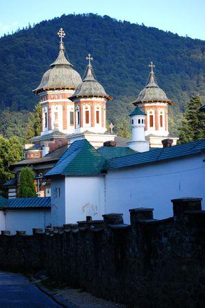 he is public: he walls of sinaia monastery, public worship, place, romania