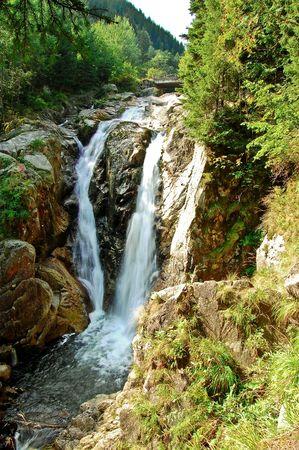 trecking: waterfall in retezat national park